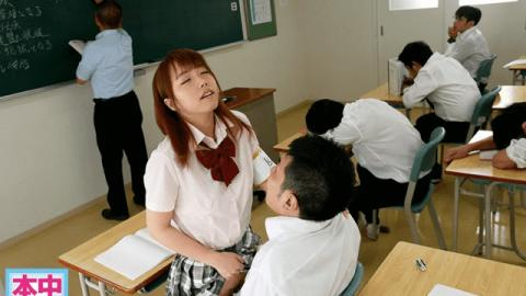 HND-446 Miki Aise Jav Creampie If you spill the sperm on the floor of the classroom, go inside my pussy - HonNaka